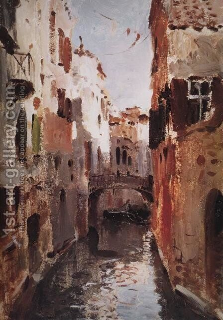 Canal in Venice Sketch 1890 by Isaak Ilyich Levitan - Reproduction Oil Painting