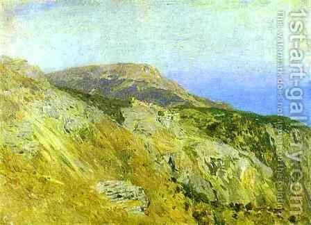 Corniche Southern France Sketch by Isaak Ilyich Levitan - Reproduction Oil Painting