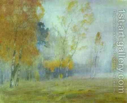 Fog Autumn 1899 by Isaak Ilyich Levitan - Reproduction Oil Painting