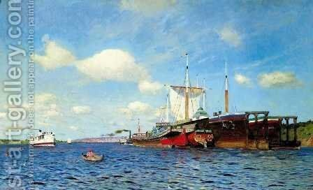 Fresh Wind Volga 1895 by Isaak Ilyich Levitan - Reproduction Oil Painting