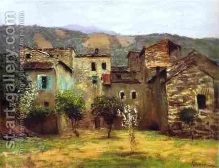 In the Vicinity of Bordiguera in the North of Italy 1890 by Isaak Ilyich Levitan - Reproduction Oil Painting