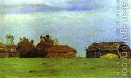 Landscape with Buildings by Isaak Ilyich Levitan - Reproduction Oil Painting