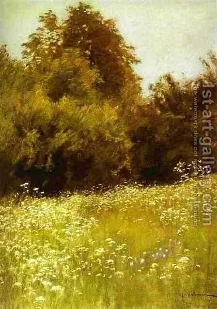 Meadow on the Edge of a Forest 1898 by Isaak Ilyich Levitan - Reproduction Oil Painting
