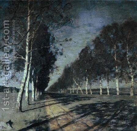 Moonlit Night 1897 by Isaak Ilyich Levitan - Reproduction Oil Painting
