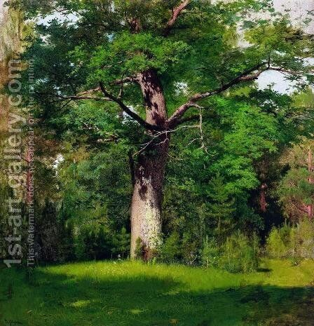 Oak 1880 by Isaak Ilyich Levitan - Reproduction Oil Painting