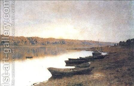 On the river Volga 1888 by Isaak Ilyich Levitan - Reproduction Oil Painting