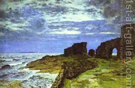 Remains of the Past Twilight Finland 1897 by Isaak Ilyich Levitan - Reproduction Oil Painting