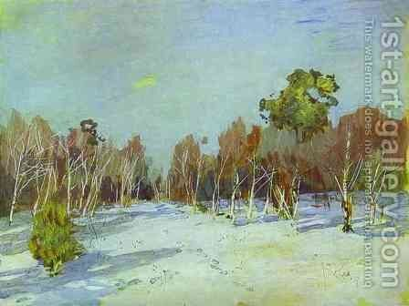 Snowbound Garden 1885 by Isaak Ilyich Levitan - Reproduction Oil Painting