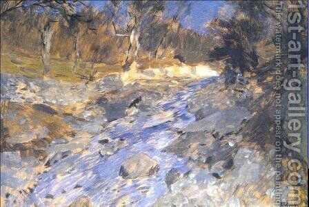 Springtime in the Crimea 1900 by Isaak Ilyich Levitan - Reproduction Oil Painting