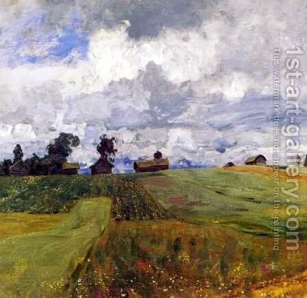 Stormy day 1897 by Isaak Ilyich Levitan - Reproduction Oil Painting