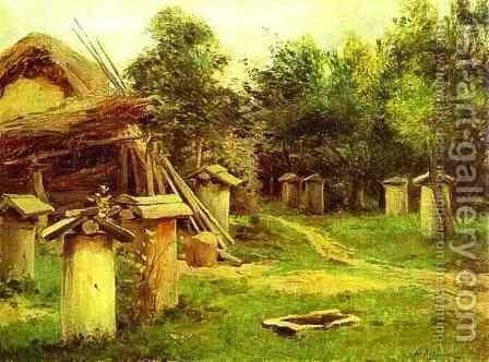 The Apiary Date unknown by Isaak Ilyich Levitan - Reproduction Oil Painting