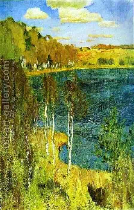 The Lake 1898 by Isaak Ilyich Levitan - Reproduction Oil Painting