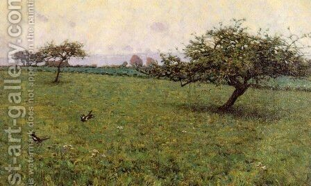 A Field Kerlaouen 1887 by Arthur Wesley Dow - Reproduction Oil Painting