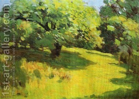 A June Morning aka A View of Ipswich Massachusetts 1893 by Arthur Wesley Dow - Reproduction Oil Painting