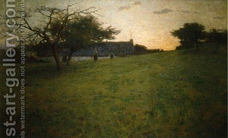 At Evening 1888 by Arthur Wesley Dow - Reproduction Oil Painting