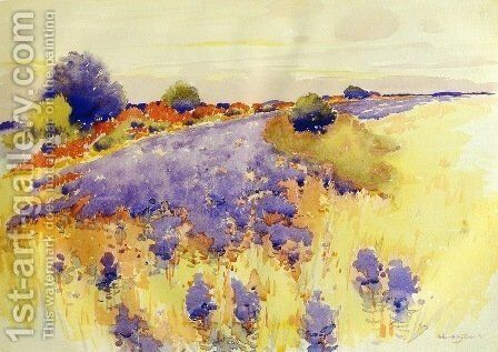Flowering Field 1895 by Arthur Wesley Dow - Reproduction Oil Painting