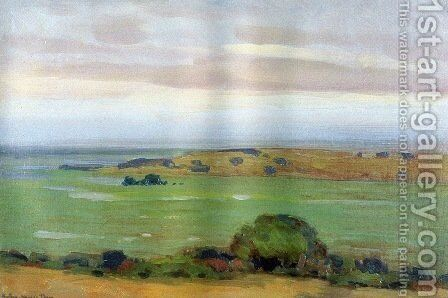 In the Shadow of the Thundercloud 1908 by Arthur Wesley Dow - Reproduction Oil Painting