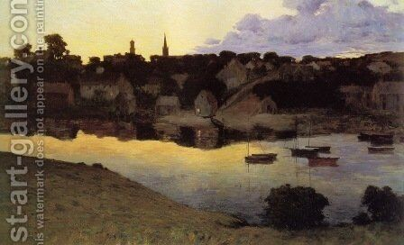 Ipswich at Dusk 1890 by Arthur Wesley Dow - Reproduction Oil Painting