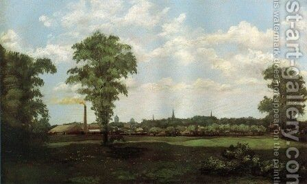 Landscape 1881 by Arthur Wesley Dow - Reproduction Oil Painting