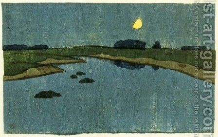 Marsh Creek 1905 by Arthur Wesley Dow - Reproduction Oil Painting