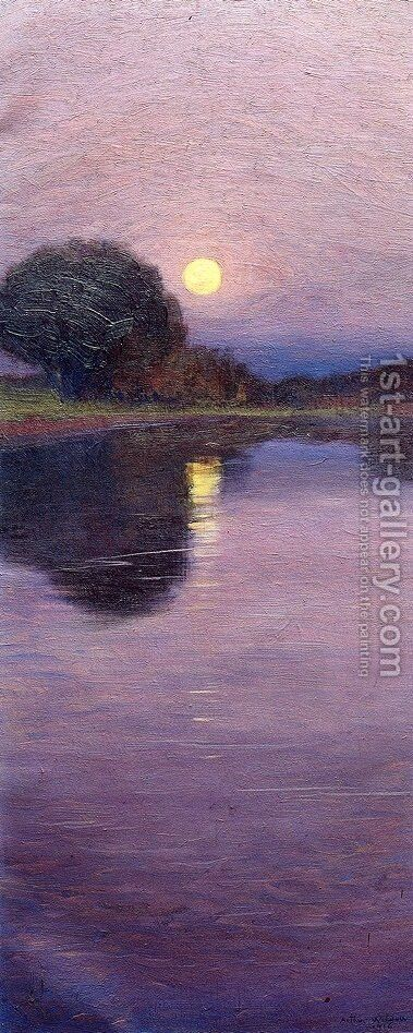 Moonrise 1916 by Arthur Wesley Dow - Reproduction Oil Painting