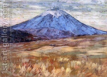 Mount Hood 1917 by Arthur Wesley Dow - Reproduction Oil Painting