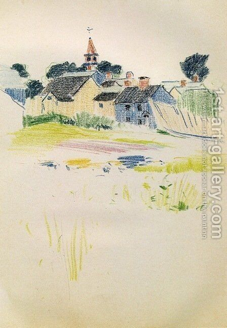 Pond 1883 by Arthur Wesley Dow - Reproduction Oil Painting