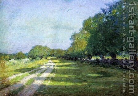 Sun Dappled Path 1895 by Arthur Wesley Dow - Reproduction Oil Painting