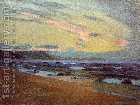 Sunset at Gay Head Marthas Vinyard 1913 by Arthur Wesley Dow - Reproduction Oil Painting