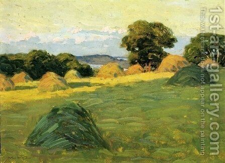 The Hill Field 1908 1910 by Arthur Wesley Dow - Reproduction Oil Painting