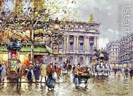 Cafe de la Paix Opera by Agost Benkhard - Reproduction Oil Painting