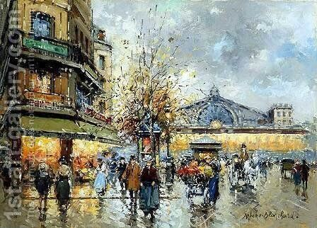 Gare de l Est1 by Agost Benkhard - Reproduction Oil Painting