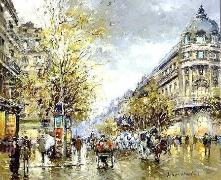 Grands Boulevards by Agost Benkhard - Reproduction Oil Painting