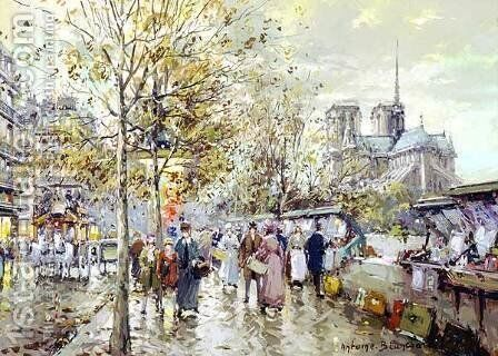 Notre Dame2 by Agost Benkhard - Reproduction Oil Painting