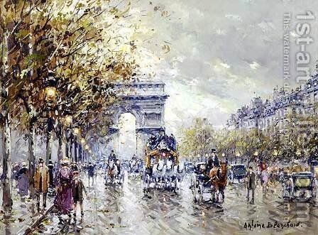 Paris l Arc de Triomphe by Agost Benkhard - Reproduction Oil Painting