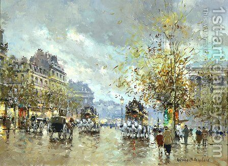 Place de la Madeleine by Agost Benkhard - Reproduction Oil Painting