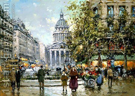Place du Luxembourg Le Pantheon by Agost Benkhard - Reproduction Oil Painting