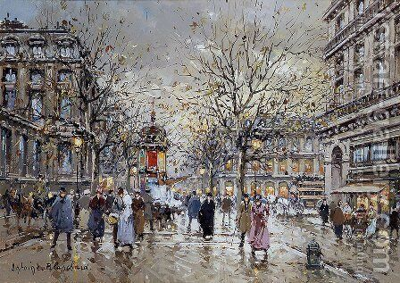 Place du Palais Royal by Agost Benkhard - Reproduction Oil Painting