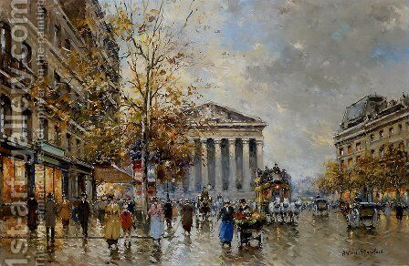 Rue Royale Madeleine1 by Agost Benkhard - Reproduction Oil Painting