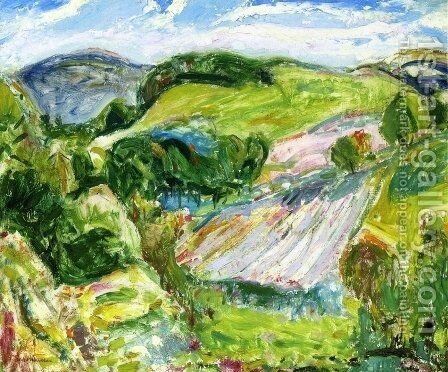 Fields 1912 by Alfred Henry Maurer - Reproduction Oil Painting