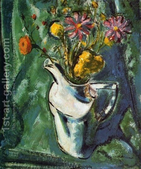 Floral Still Life 1912 by Alfred Henry Maurer - Reproduction Oil Painting