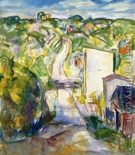Landscape 1915-1924 by Alfred Henry Maurer - Reproduction Oil Painting