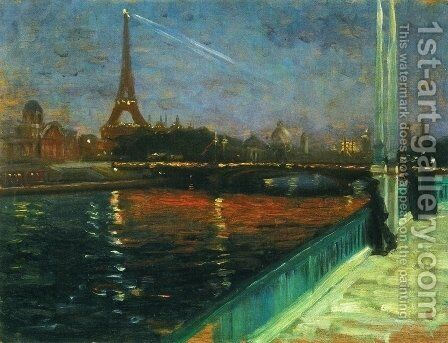 Paris Nocturne Date unknown by Alfred Henry Maurer - Reproduction Oil Painting