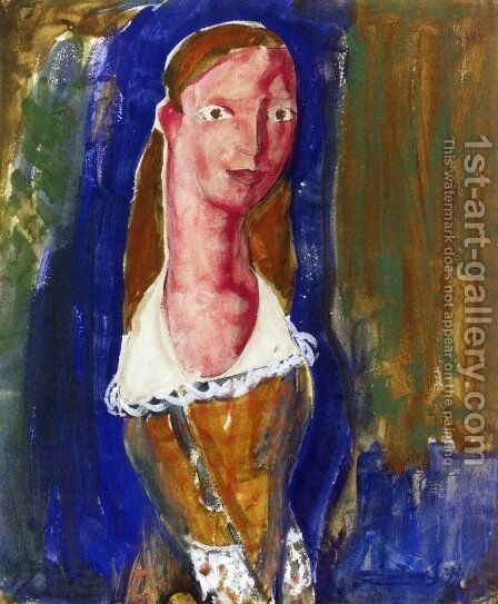 Portrait of a Girl 1923 by Alfred Henry Maurer - Reproduction Oil Painting