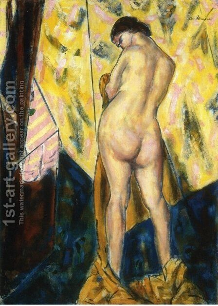 Standing Female Nude 1928 by Alfred Henry Maurer - Reproduction Oil Painting