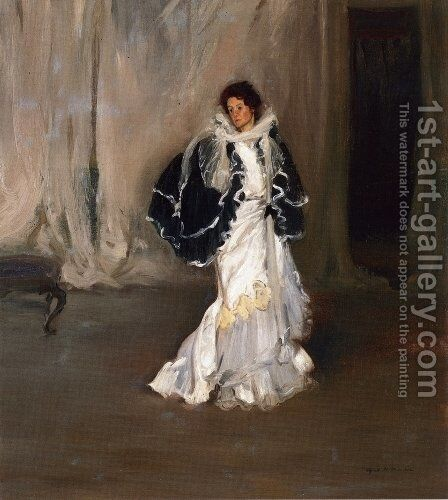 The Black Cape 1901-1904 by Alfred Henry Maurer - Reproduction Oil Painting