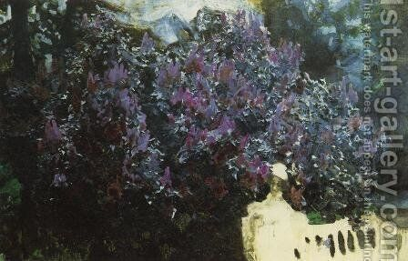 Lilacs (unfinished) by Mikhail Aleksandrovich Vrubel - Reproduction Oil Painting