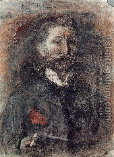 Self Portrait by Mikhail Aleksandrovich Vrubel - Reproduction Oil Painting