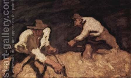 Die Schnitter by Albin Egger-Lienz - Reproduction Oil Painting