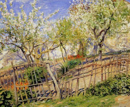 Blossoms and Wallflowers by Guy Rose - Reproduction Oil Painting